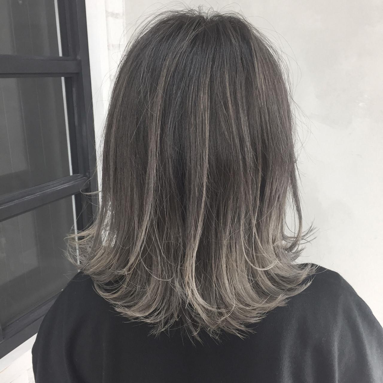 【ブリーチなしでも可愛い!】黒に近い髪色×暗めアッシュ大公開♡の19枚目の画像