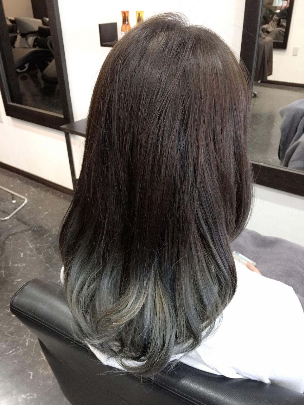 【ブリーチなしでも可愛い!】黒に近い髪色×暗めアッシュ大公開♡の24枚目の画像