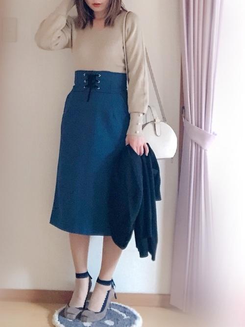 【春夏秋冬】タイトスカート(ミニ・ロング)の着回しコーデ術♡の1枚目の画像