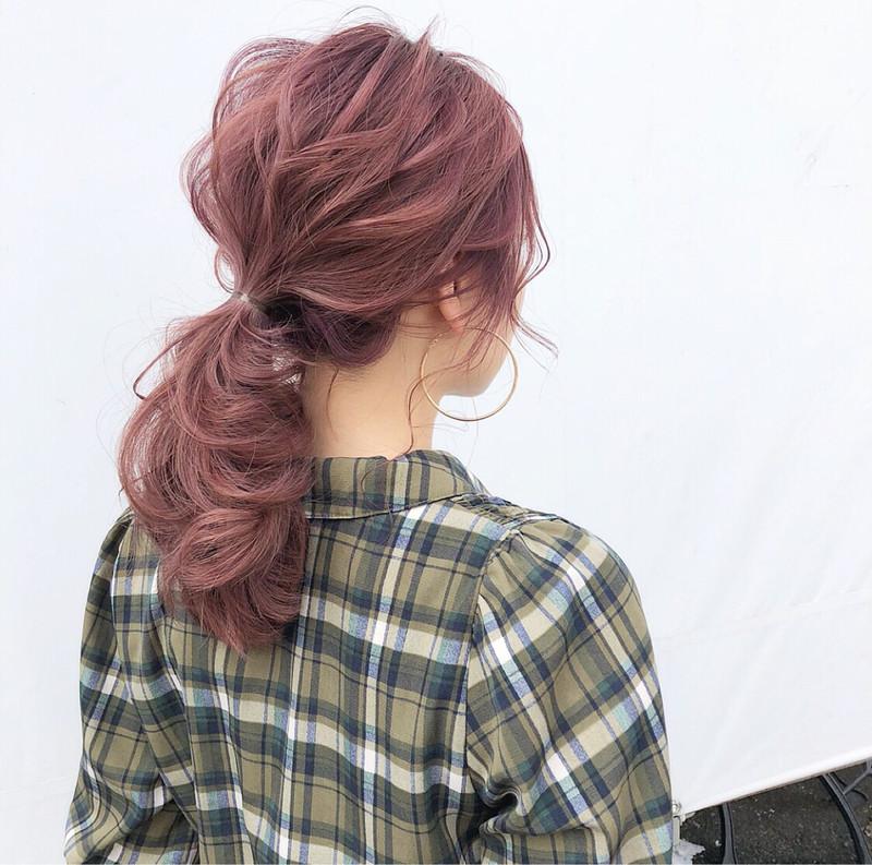 """旬な髪色、""""ピンクアッシュ""""で愛されガールへワンランクアップ♡"""