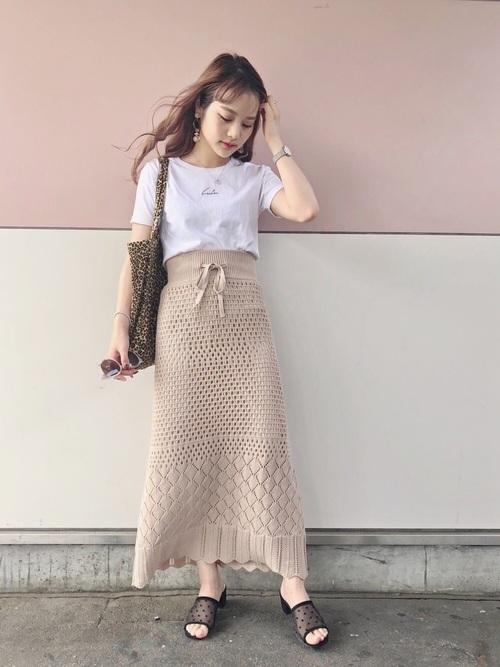 【2019】ニットスカートを春夏秋冬たのしむ♡丈別にコーデ攻略!