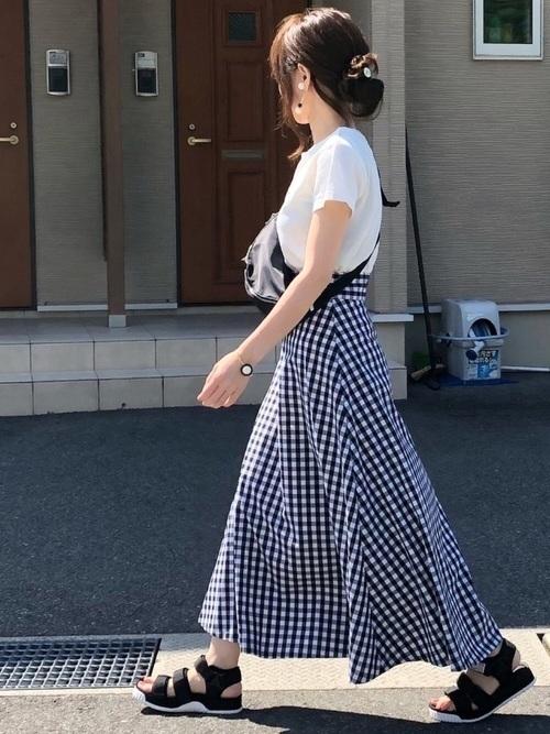 かわいいが詰まった【ギンガムチェックスカート】でモテコーデ作り♡の1枚目の画像