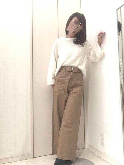 【2019年トレンド】ベイカーワイドパンツ着こなしコーデ特集♡の10枚目の画像