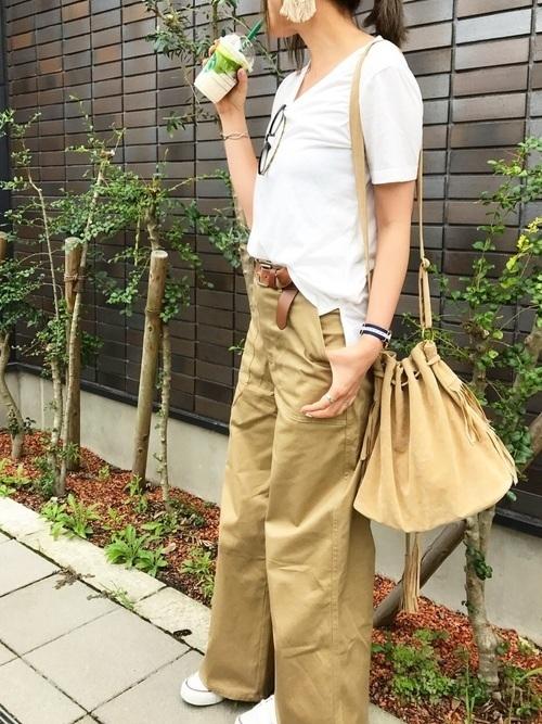 【2019年トレンド】ベイカーワイドパンツ着こなしコーデ特集♡の9枚目の画像