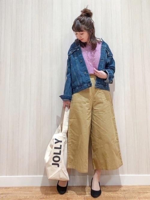 【2019年トレンド】ベイカーワイドパンツ着こなしコーデ特集♡の8枚目の画像