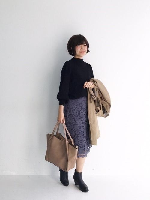 オフィスだって色っぽくいたい♡レースタイトスカートのコーデ紹介の1枚目の画像