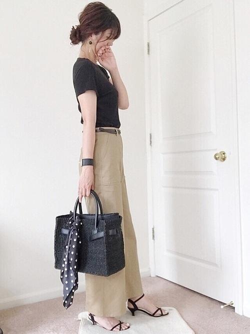 【2019年トレンド】ベイカーワイドパンツ着こなしコーデ特集♡の4枚目の画像