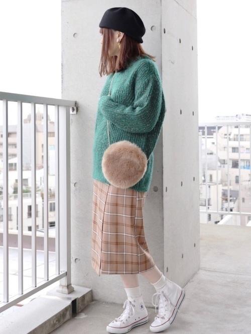 【コーデ26選】チェックタイトスカートで以前よりもかわいい自分♡の1枚目の画像