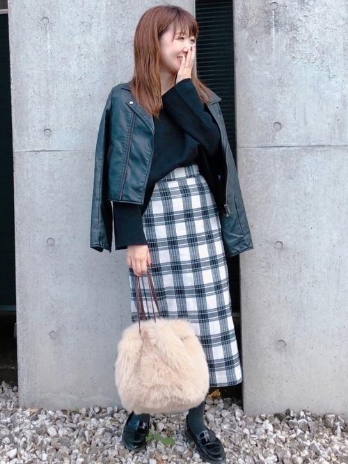 【コーデ26選】チェックタイトスカートで以前よりもかわいい自分♡の25枚目の画像