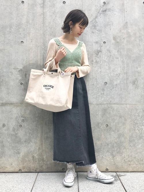 ざっくり編み目がかわいい!【かぎ編み】アイテムでモテコーデ♡の13枚目の画像