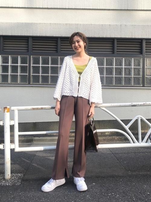 ざっくり編み目がかわいい!【かぎ編み】アイテムでモテコーデ♡の16枚目の画像