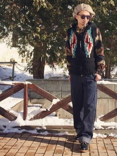 秋冬注目のアイテム【カウチンニット・セーター】でおしゃれコーデ♪の12枚目の画像