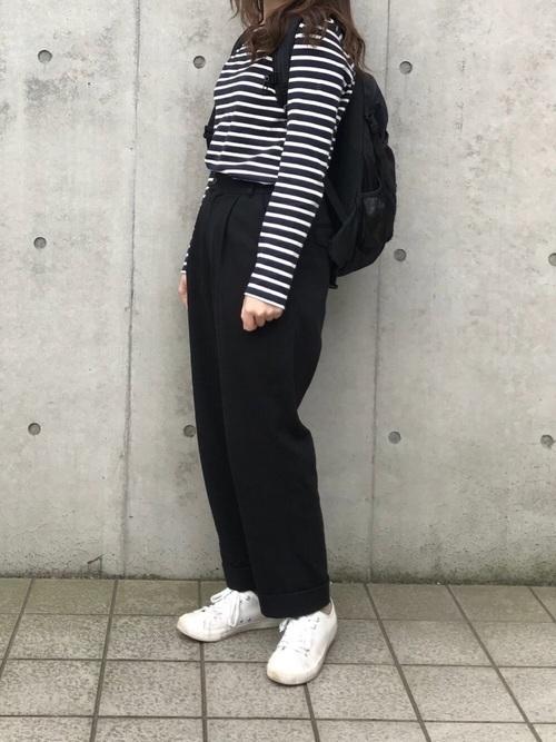 着回し力ばつぐん!【黒パンツ】のオトナレディースコーデ60選♡の31枚目の画像