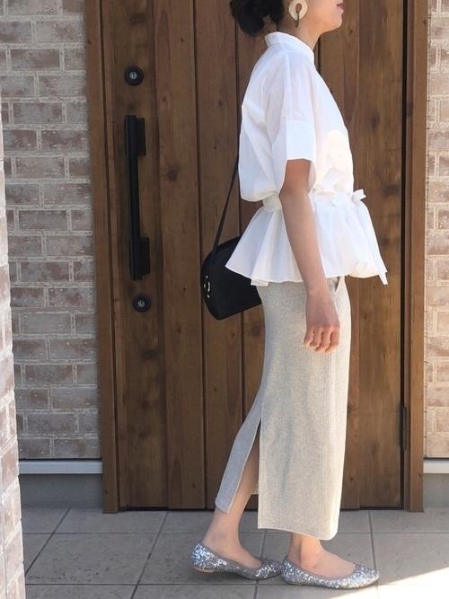 大人女性におすすめ♡着回ししやすいユニクロタイトスカートコーデの8枚目の画像