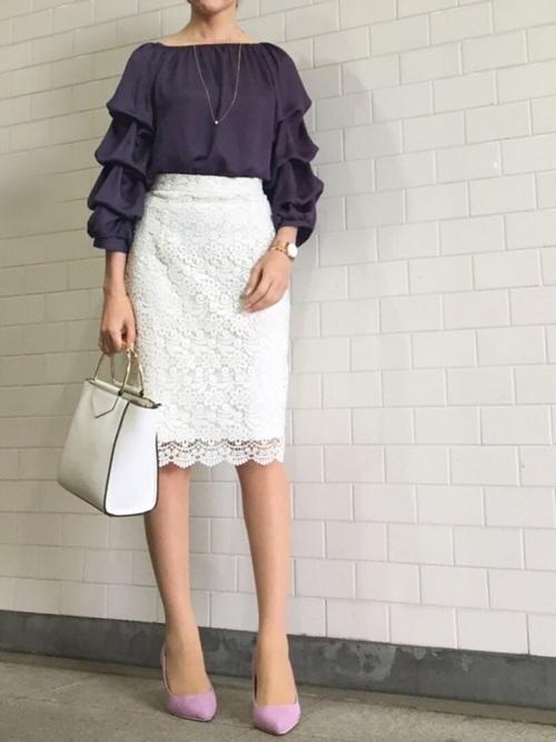 大人女性におすすめ♡着回ししやすいユニクロタイトスカートコーデの9枚目の画像