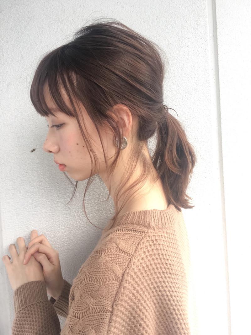 一 つ 結び 前髪