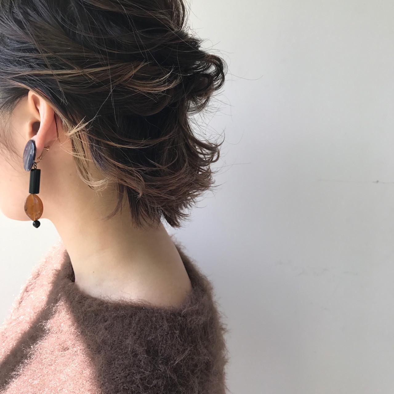 《レイヤーショートボブ》のシルエットにキュン♡心奪う愛されヘア集の12枚目の画像
