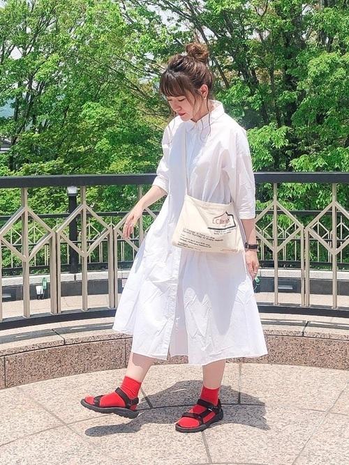 夏コーデのポイントは靴下×サンダルにあり!靴下×サンダルコーデ集の6枚目の画像
