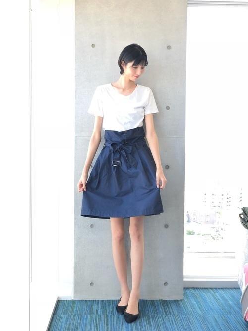 """【20選】人気の""""サーキュラースカート""""で作るおすすめコーデ特集の4枚目の画像"""