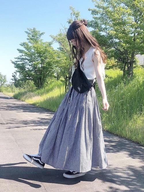 スカートコーデで夏を女性らしく過ごそう。丈別コーデを紹介しますの8枚目の画像