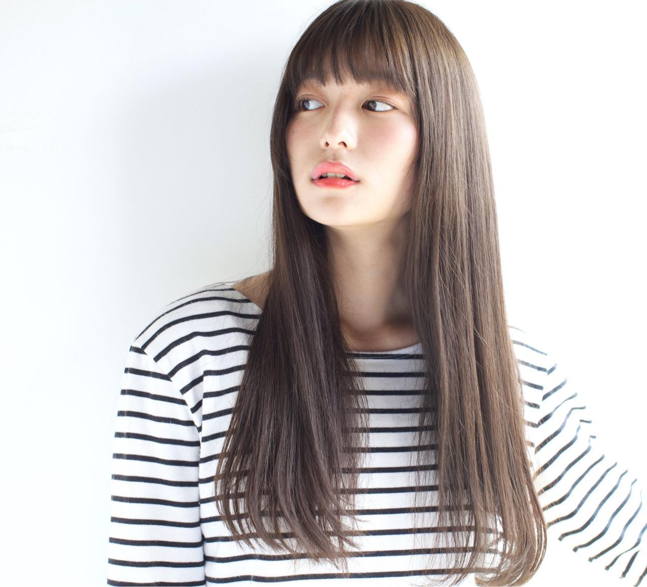 「ロングストレート」で女度高まる髪型を「タイプ別」に紹介します♡の8枚目の画像