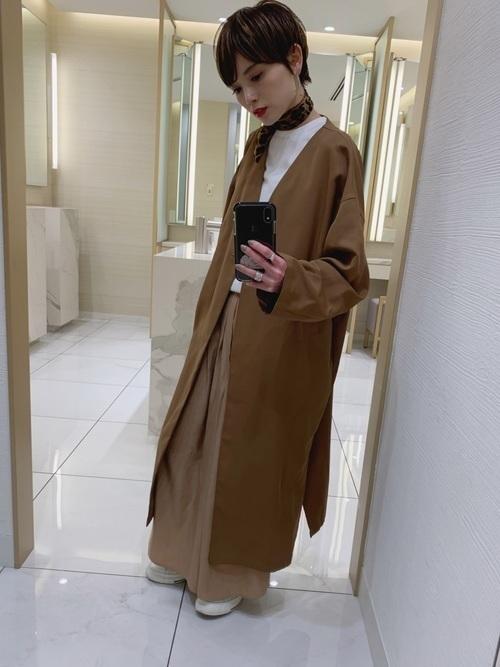 茶色コートのおしゃれコーデに挑戦しよう。おすすめブランドも紹介の4枚目の画像