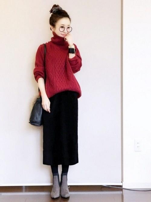 タイトスカートで冬コーデをおしゃれに。注目されるスタイルをご紹介の7枚目の画像