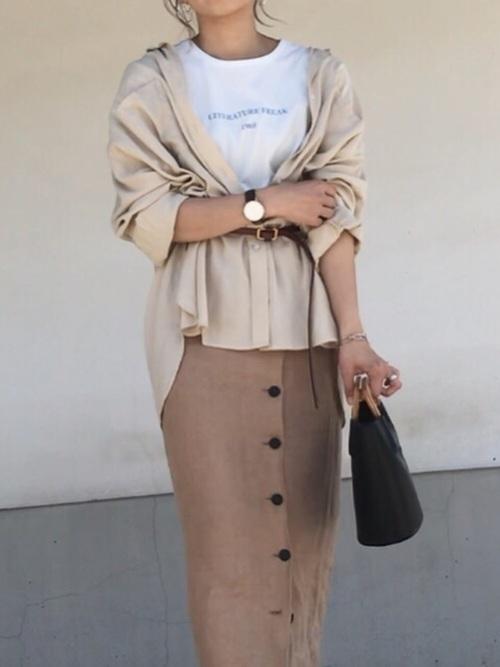 タイトスカートで冬コーデをおしゃれに。注目されるスタイルをご紹介の8枚目の画像