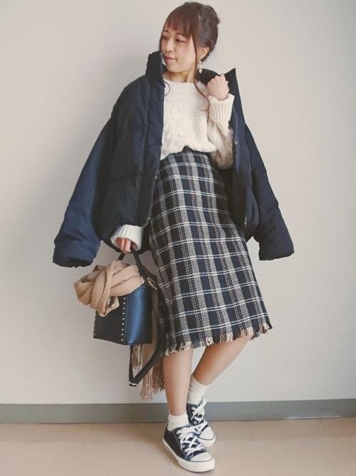 タイトスカートで冬コーデをおしゃれに。注目されるスタイルをご紹介の10枚目の画像