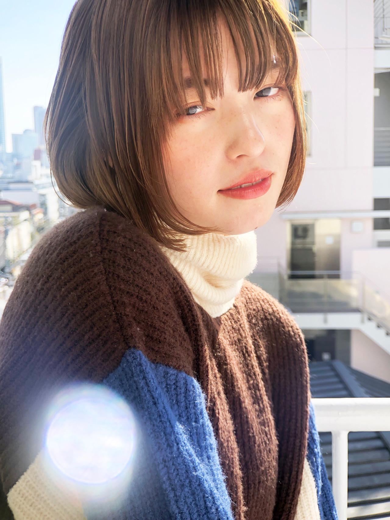 丸顔さんにおすすめ♡【タイプ・年代別】かわいいボブヘアカタログの4枚目の画像