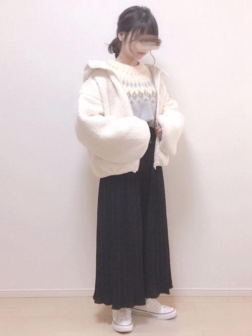 プリーツパンツで始める私の着まわし物語♡《コーデ29選》の19枚目の画像
