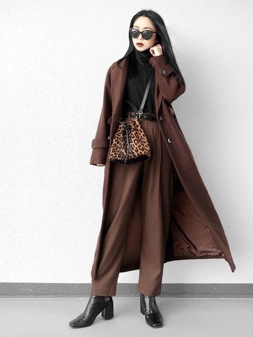 茶色コートのおしゃれコーデに挑戦しよう。おすすめブランドも紹介の11枚目の画像