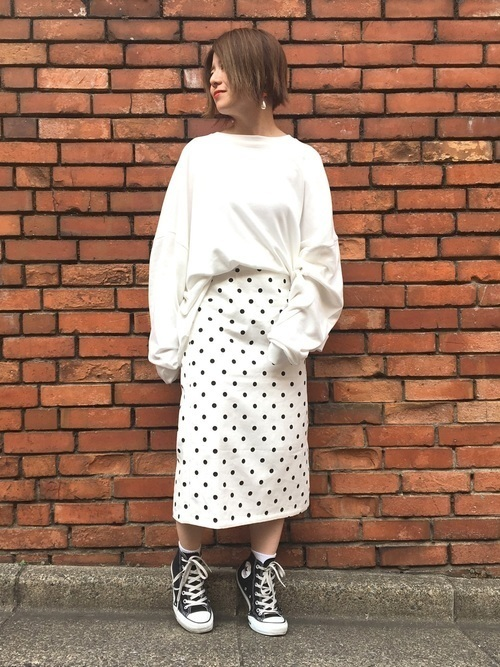 【世代別】コーデの幅広げよう♡ドットスカート着こなし9選の14枚目の画像