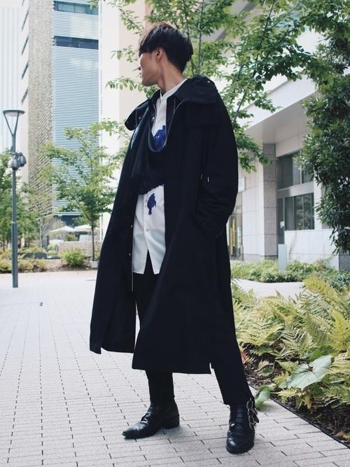 無地の黒モッズコートはこう着こなす!人気メンズコーデ10選の2枚目の画像