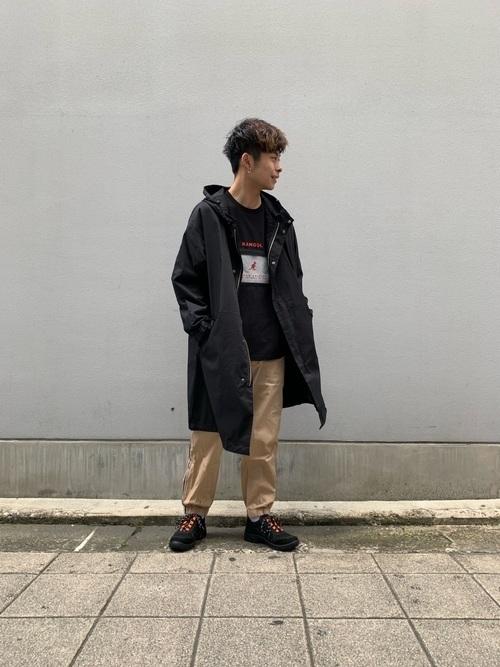 無地の黒モッズコートはこう着こなす!人気メンズコーデ10選の4枚目の画像