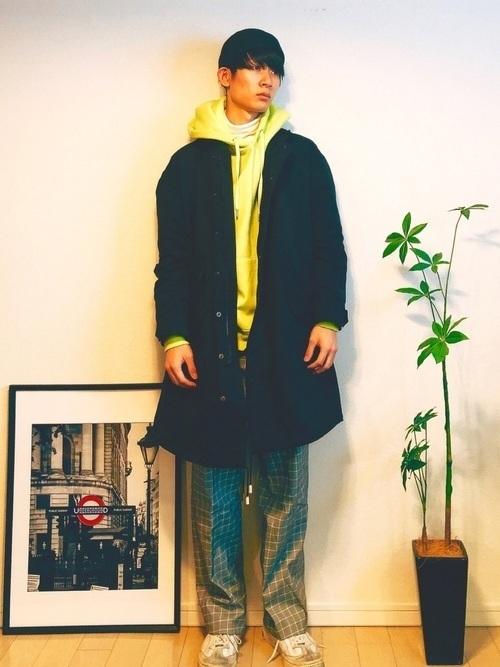 無地の黒モッズコートはこう着こなす!人気メンズコーデ10選の11枚目の画像