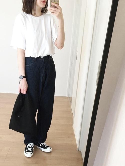 主役級Tシャツで夏映え♡アカ抜けTシャツコーデ9選の3枚目の画像