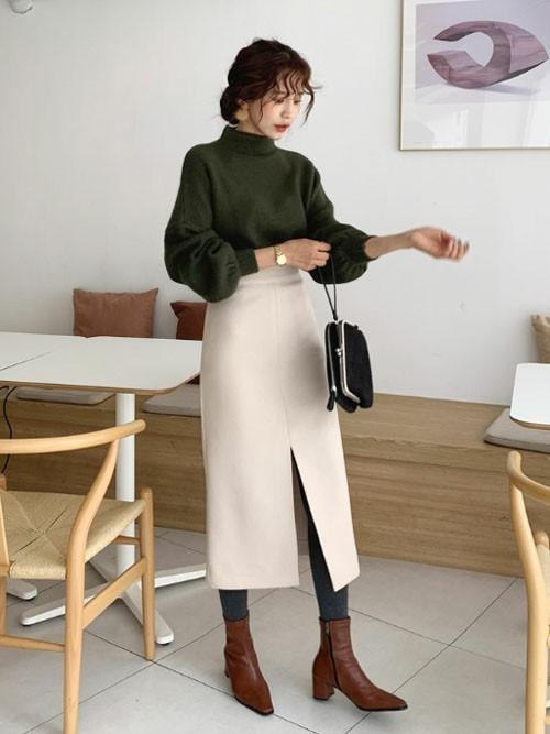 【GUとユニクロ】ミニからロングまで紹介♡スリットスカートコーデ