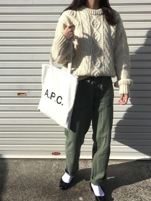 次なるブームはBIGバッグ?「A.P.C.」トートバッグに注目♡