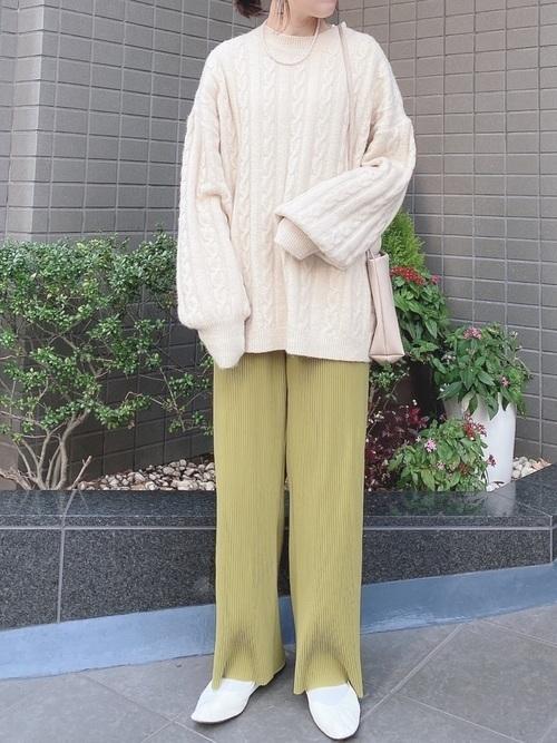 プリーツパンツで始める私の着まわし物語♡《コーデ29選》の18枚目の画像