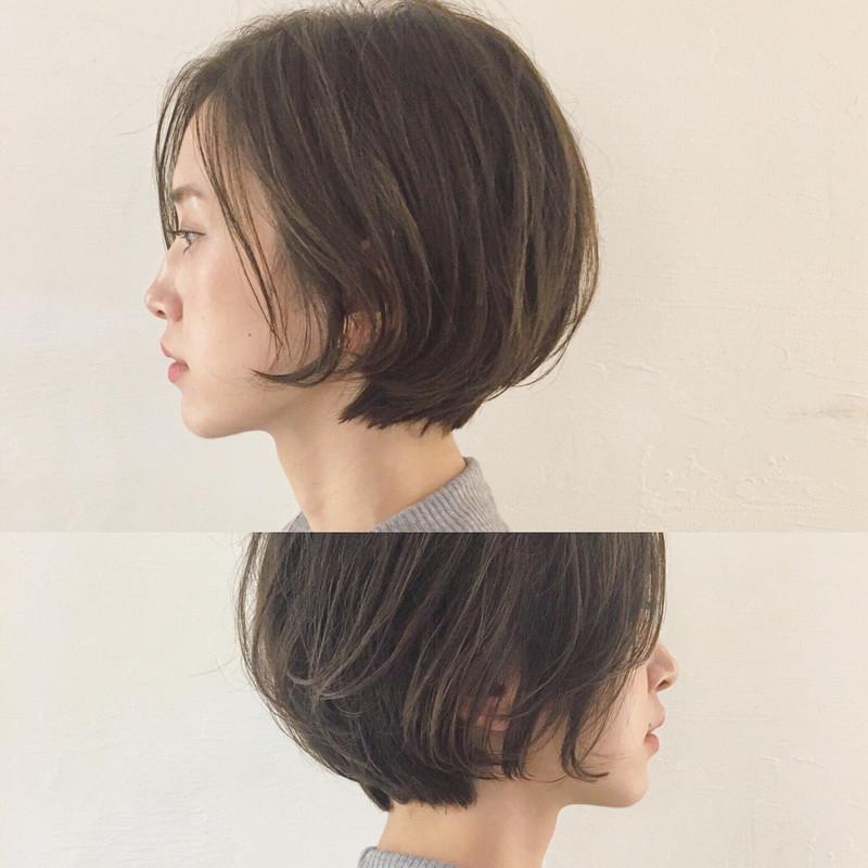 髪型ショートボブ