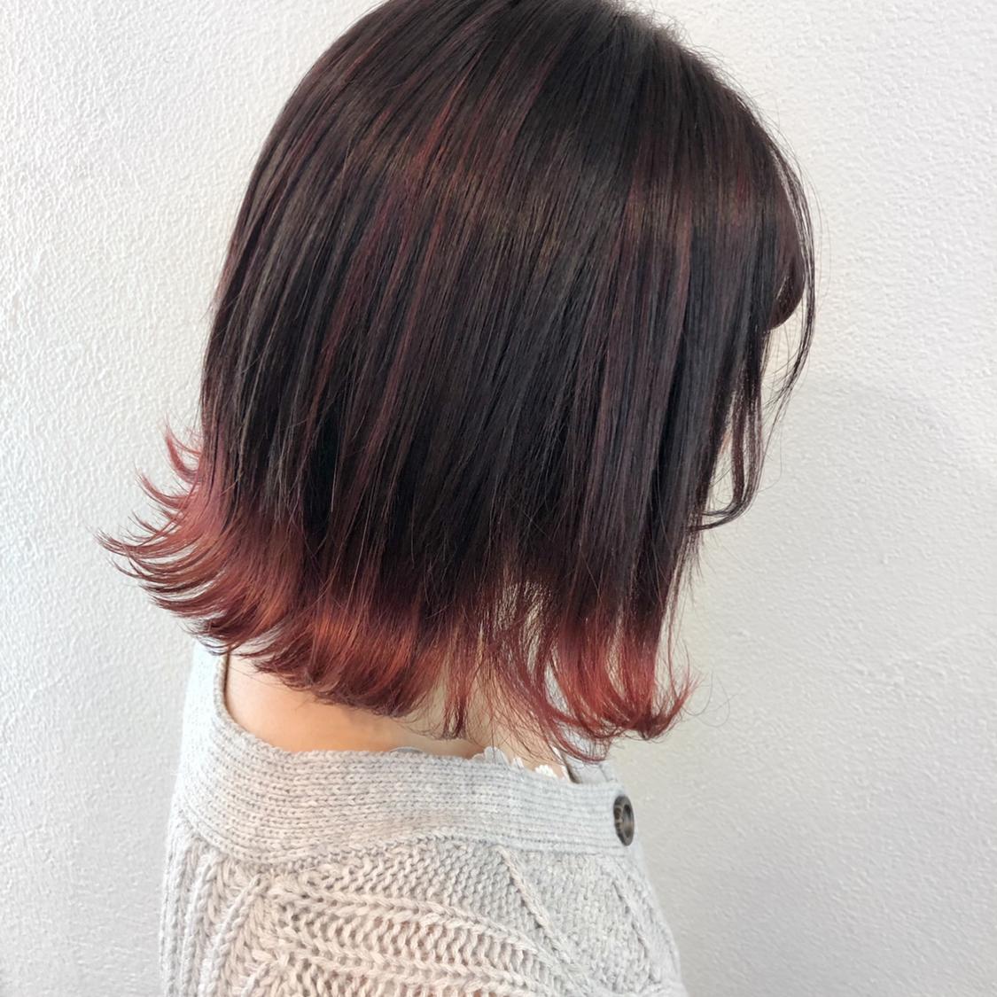 カラー セルフ 裾