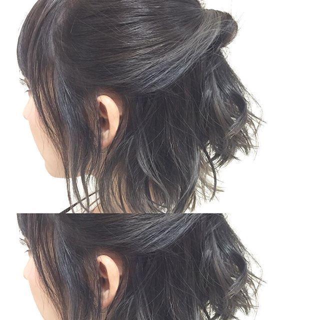 《外ハネ+ハーフアップ》の簡単こなれヘアアレンジを試してみて♡