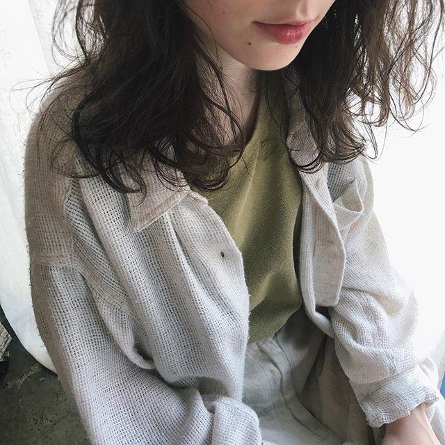 《毛先パーマ》だけで叶う♡朝のヘアセットはワンカールでラクチンに