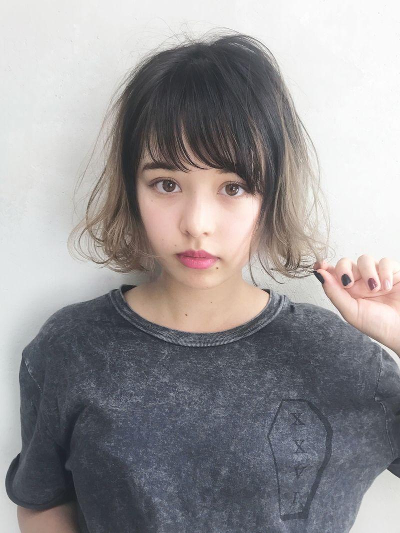 【ヘアカタログ】毛先だけ染めて、黒髪もグラデーションスタイルに♡