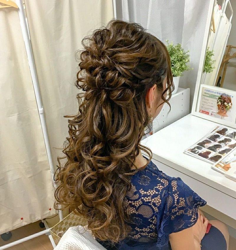 結婚式のヘアセットは自分で♡ハーフアップの簡単セルフアレンジ