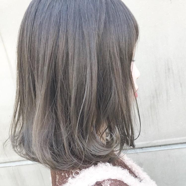 レングス別 グレイッシュカラー のおすすめヘアカタログ大特集