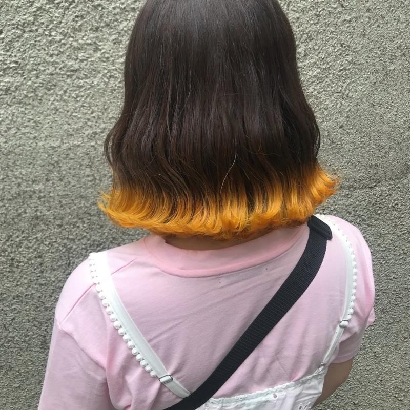 カラー 裾