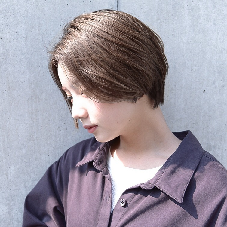 159b6de198c22 前髪なし のショートヘアスタイルで大人女性にイメージチェンジ ...