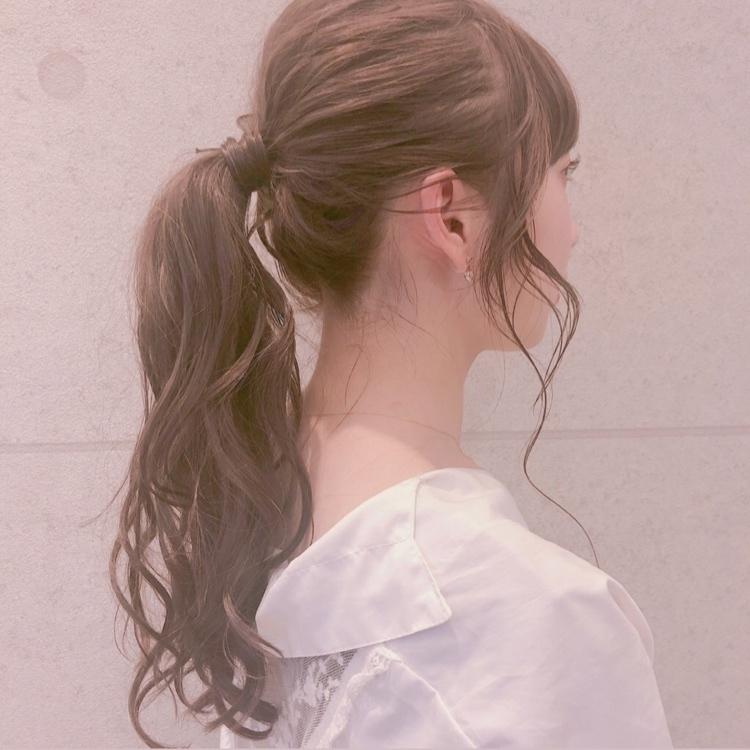 #ポニーテール #ヘアアレンジ #オフェロ #ゆるふわ #かわいい